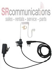 Police 2 Wire headset W/PTT for Motorola CP200 PR400 CP185 BPR40 P1225 CT250