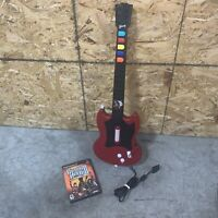 PlayStation 2 PS2 Guitar Hero Gibson Red Octane Wired Controller w/ GH3 - Tested