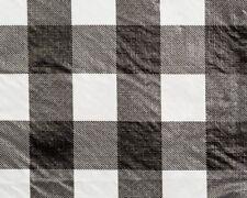 "100 YDS BULK ROLL VINYL TABLECLOTH, CHESSMATE BLACK 54"" W"
