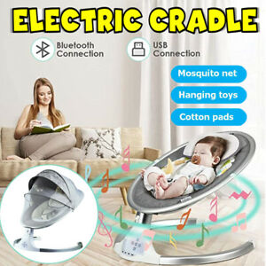 Bluetooth Electric Rocker Portable Baby Swing Infant Cradle Bouncer Seat Chair