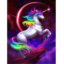 DIY 5D Diamond Painting By Number Kit, Full Drill Flying Unicorn, Home Wall Art