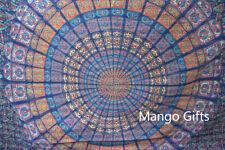 King Size Hand Block Print Mandala Kantha Quilt Indian Bed Linen 100%Cotton Rali