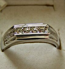 SIZE:7.5 ~ 4CZ'S  ~ 18KGP ~ WHT ~ GOLD ~ RING  ----- (GREAT_GIFT)