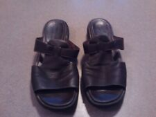 APOSTROPHE Womens Size 8M Sandals Slip On Open Toe Shoes Leather Brown