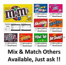 9 Pack Vending Machine Candy Stickers Labels Nutrition 25 Quick Amp Free Ship