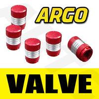 RED CHROME VALVE DUST TYRE WHEEL CAPS KIA SORENTO 4X4