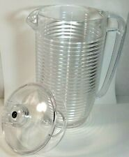 Vintage 1986 Majestic Clear Plastic Pitcher Beehive Ribbed