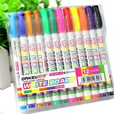 12 Colors Whiteboard Marker Non Toxic Dry Erase Mark Sign Fine Nib Set Supply