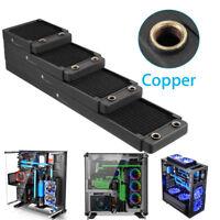 Copper Computer PC Water Cooling Radiator Heatsink Cooler 120/240/360/480mm