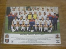 1986 England: Team Group Picture/Card (Double Postcard Size). Thanks for viewing