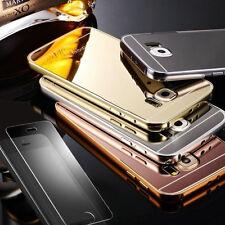 ★★ 360° HANDY HÜLLE SCHUTZ Spiegel Case Tasche Cover Aluminium + Panzerglas ★★