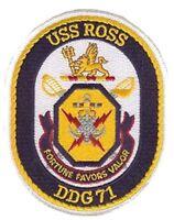 USN NAVY SHIP USS ROSS DDG-71 PATCH ARLEIGH BURKE CLASS DESTROYER QUAD CRUISER