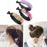 Fashion Women Hair Clip Nest Rhinestone Hairpin Hair Claws Ponytail Bun Holders