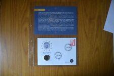 BUSTA FILATELICA MONETA BELGIO 1 EURO 2002 numismatica SUBALPINA