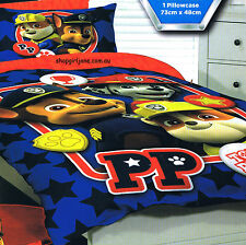 Paw Patrol - Top Pups - Single/US Twin Bed Quilt Doona Duvet Cover set