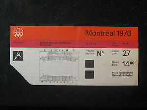 Vintage 1976 Montreal Summer Olympic Games Ticket Stub 7/27 Handball