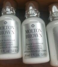 8 x MOLTON BROWN COCO & SANDALWOOD NOURISHING BODY LOTION  30ML~1.0oz EA NEW SET