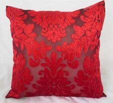 Stunning Red Flocked Velvet Cushion Cover ~ 45cm