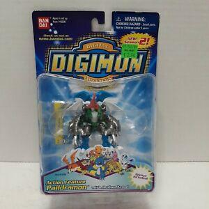 "Vintage Bandai 3"" Digimon Season 2: Action Feature Paildramon (Factory Sealed)."