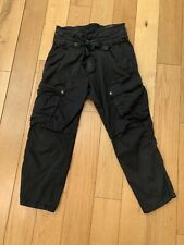 Zara Black Utility Paper Bag Trouser Jeans Uklarge Approx 14