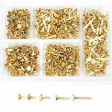 500pcs Mini Scrapbooking Brads Paper Steel Brad Fastener, Gold, 5 Assorted Sizes