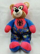 """BUILD A BEAR SPIDERMAN 17"""" TALKING PLUSH WITH TMNT BOXERS TESTED WORKING"""