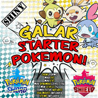 Pokemon Sword and Shield ⚔️ ALL 3 SHINY GALAR STARTERS ✨| HIDDEN ABILITIES! 🛡️