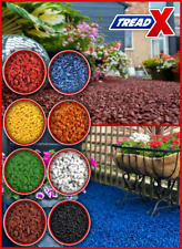 More details for 6mm coloured rubber crumb granules chip garden mulch equestrian playground park