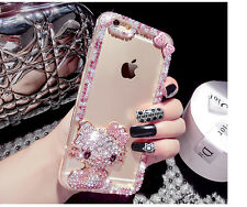 Hello Kitty Crystal Diamond Pink Bow Mobile Phone Case Apple iPhone 6 Samsung S7