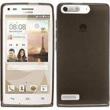 Funda de silicona Huawei Ascend G6 transparente - negro Case