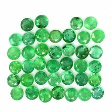 NATURAL COLOMBIAN GREEN EMERALD LOOSE GEMSTONES (1 piece) ROUND CUT ( 5.2 mm)