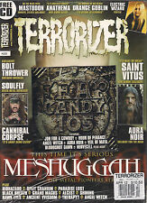 TERRORIZER UK #221 April 2012 MESHUGGAH Soulfly ELECTRIC WIZARD POSTER + CD SS