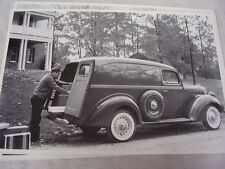 1938 FORD PANEL TRUCK  WITH SIDE MOUNT SPARE  12 X 18  LARGE PICTURE  PHOTO