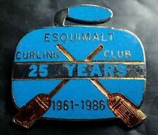 Curling Club Pin - Esquimalt Curling Club 25 Years 1961 - 1986
