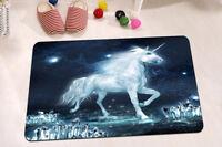 "15X23"" Kitchen Bath Doormat Non-Slip mat Rug Carpet Fairy Dream Silver Unicorn"