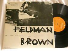MORTON FELDMAN & EARLE BROWN Durations David Tudor Don Butterfield Time LP