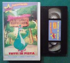 VHS FILM Ita Animazione DENVER The Last Dinosaur Tutti In Pista no dvd (VH88) °