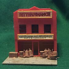 Vintage HO Scale Model Train Plastic General Store Feed & Hardware Made By POLA