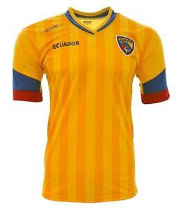 Ecuador  New Arza Soccer Jersey Yellow/Blue 100% Polyester