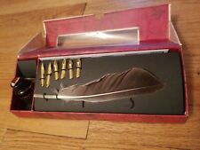 Feather Ink Pen Plume Set A.M. Schreibfeder Authentic Models In Box Writing htf
