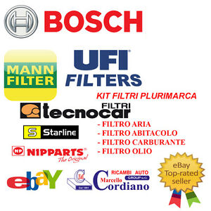 KIT TAGLIANDO FILTRI + OLIO NISSAN MICRA III 1.2 12V 59KW 80CV DAL 2003 -> 2010