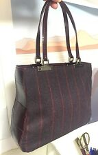 Etro Small Evening Purse Tote Croc Embossed wool Oxblood Red B7