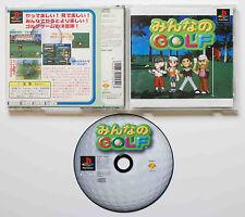 MINNA NO GOLF sur Sony PLAYSTATION 1 PS1 Japan