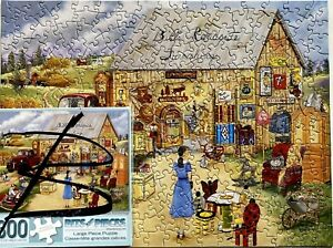 """BILL'S ROADSIDE FURNISHINGS -300 LARGE PIECE PUZZLE - BITS & PIECES-SIZE 18""""X24"""""""