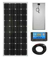 150w Mono Solar Panel Battery Charging Kit Controller Mounting Bracket Set KK1