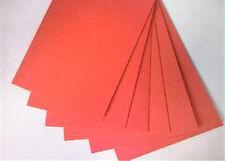 6pcs,120mm*120mm*1.5mm ,Insulation gasket Red vulcanized Fiber Insulating Paper