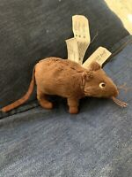 IKEA Gosig Mus Brown Soft Plush Mouse Rat NEW Pretend Play Homeschool