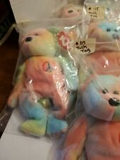 Lot or 24 TY Beanie  Peace Bear - Pastel Tie-Dyed  Original MWMT Rare