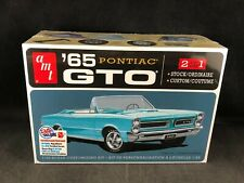 AMT 1965 Pontiac GTO 2 in 1 1:25 Scale Plastic Model Kit 1191 Factory Sealed Box