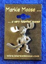 "(1) Markie Moose Metal Lapel Pin ~1"" Tall Train Ski Mobile Skiing Sports Tourist"